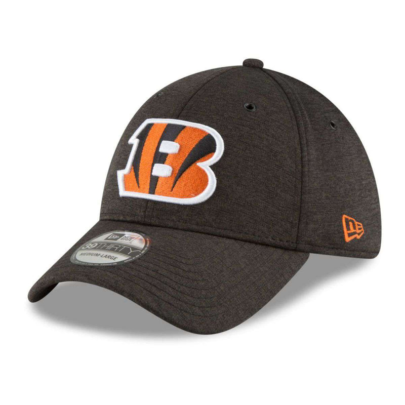 Cincinnati Bengals New Era NFL 2018 Sideline 39THIRTY Stretch-Fit Curved Hat - Black