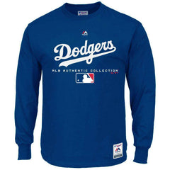 Los Angeles Dodgers Majestic MLB Team Drive Long Sleeve T-Shirt - Blue