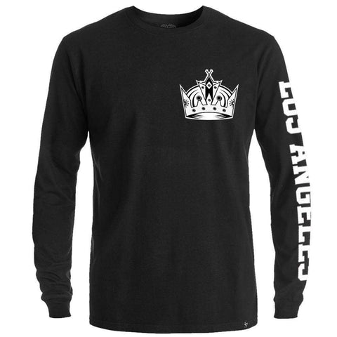 Los Angeles Kings '47 NHL Rundown Long Sleeve T-Shirt - Black