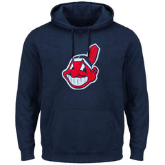 Cleveland Indians Majestic MLB Scoring Position Hoodie Jumper - Navy