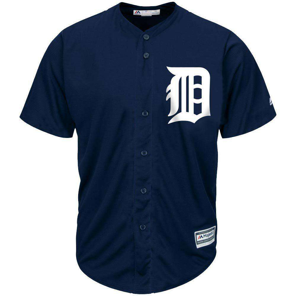 00c16de0525 Detroit Tigers Majestic MLB AC Cool Base Replica Jersey - Navy