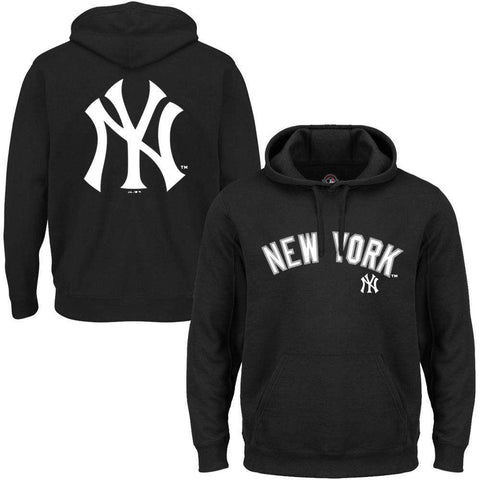 New York Yankees Majestic MLB Rolsher Hoodie Jumper - Black