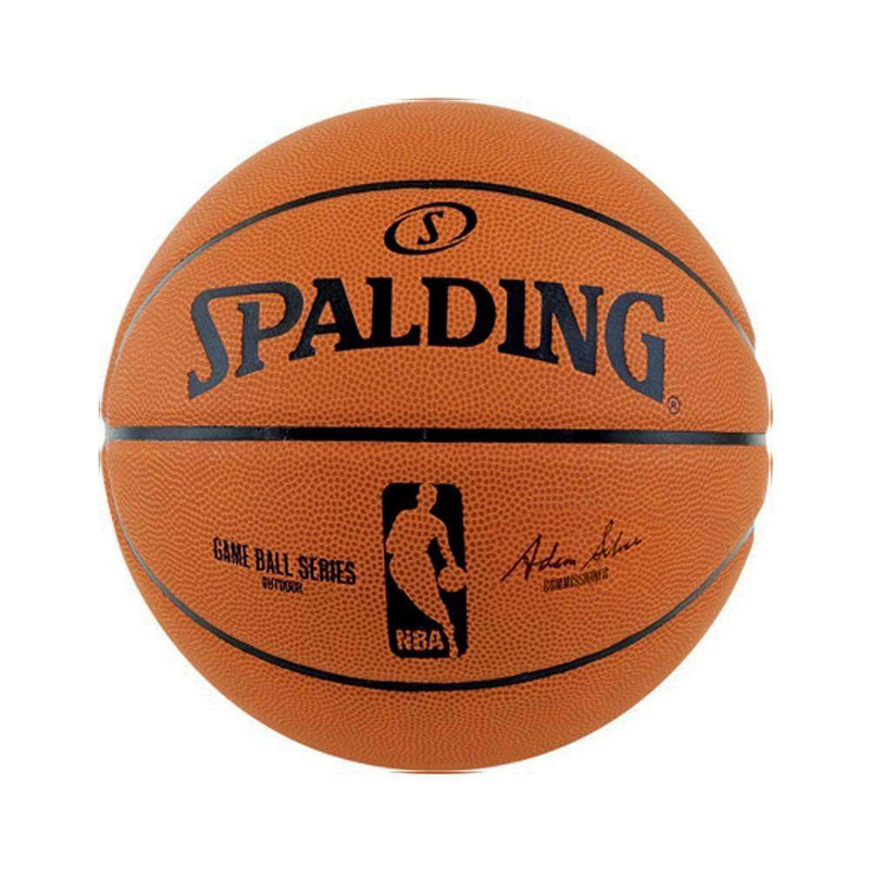 Kids Spalding NBA Game Ball Rubber Outdoor Basketball Ball - Size 5