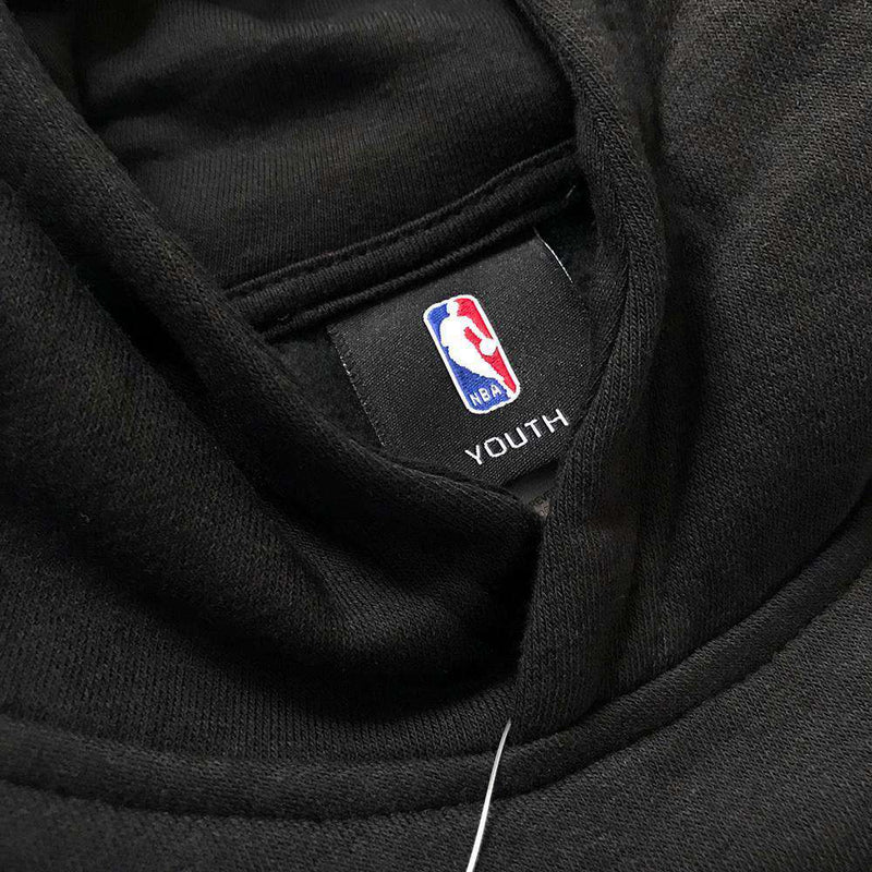 Youths Philadelphia 76ers Outerstuff NBA Logo Hoodie Jumper - Black