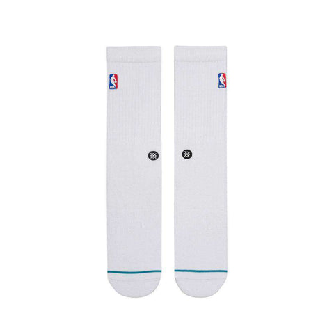 Stance NBA Logoman Casual Crew Socks - White