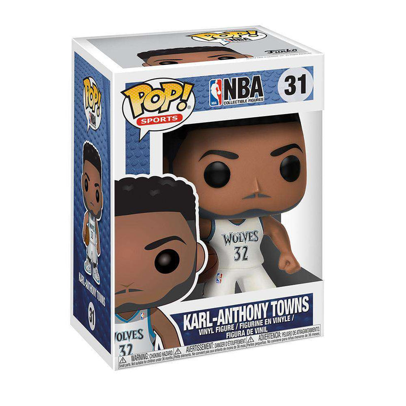 "Karl Anthony Towns Minnesota Timberwolves Funko NBA Pop 3.75"" Figure - White"