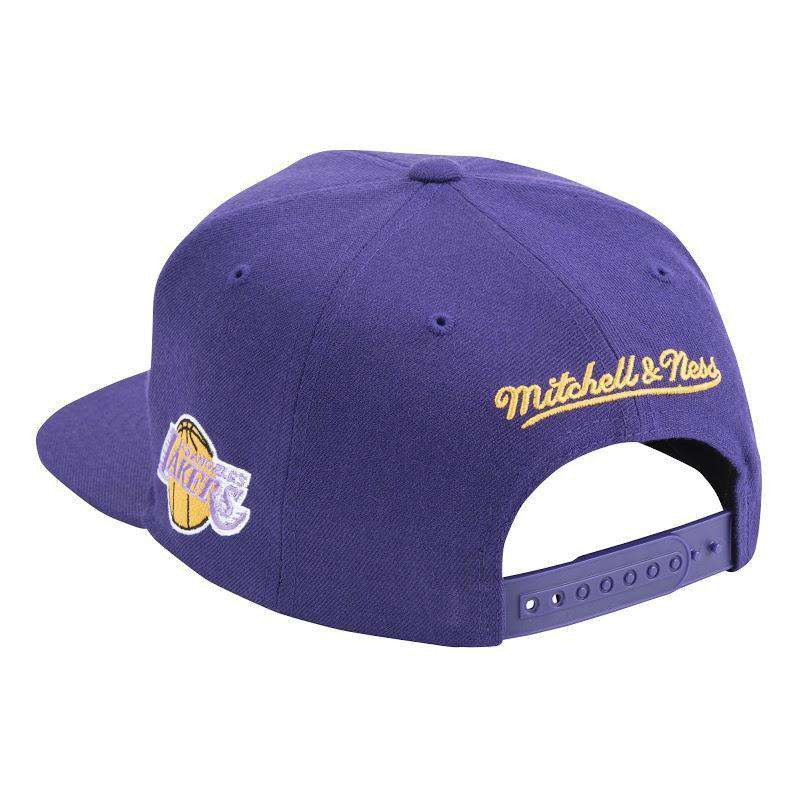 Los Angeles Lakers Mitchell & Ness NBA Faded Gothic Snapback Hat - Purple
