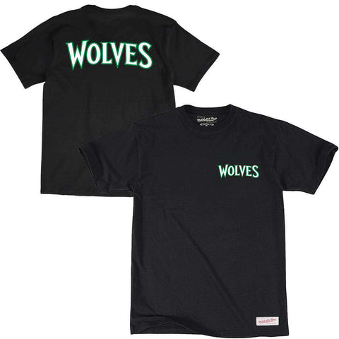 Minnesota Timberwolves Mitchell & Ness NBA Pocket Wordmark T-Shirt - Black