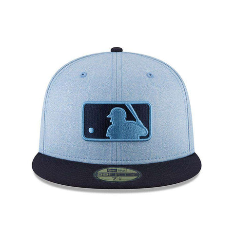 2018 Fathers Day MLB Logo New Era AC On-Field 59FIFTY Fitted Hat - Blue