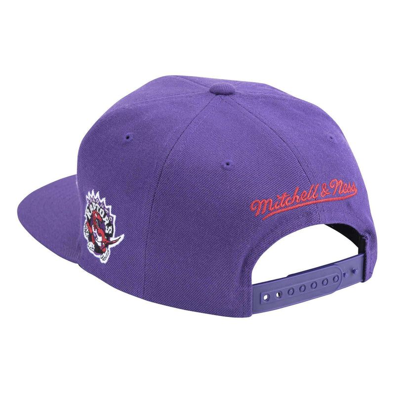 Toronto Raptors Mitchell & Ness NBA Faded Gothic Snapback Hat - Purple
