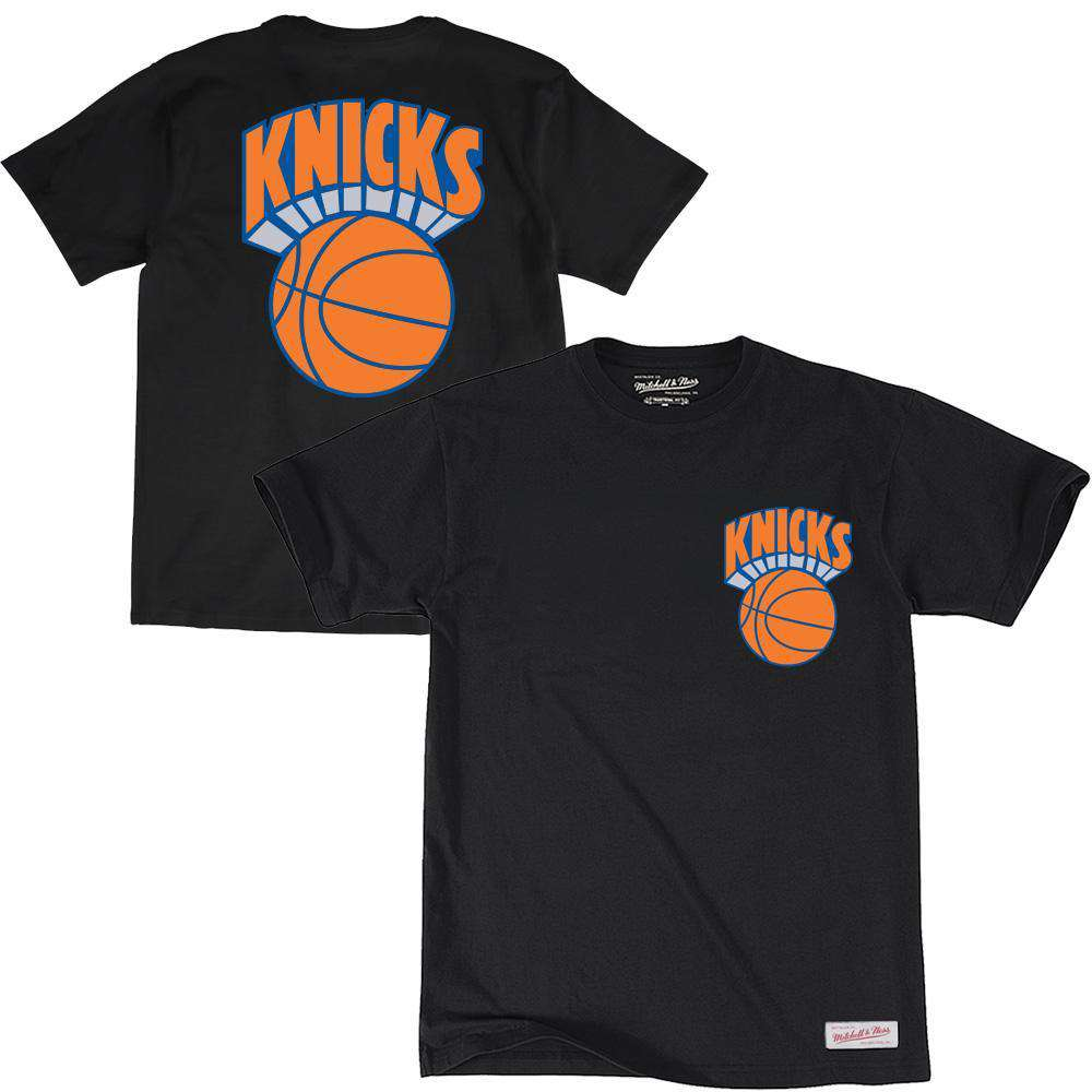 promo code a6273 70827 New York Knicks Mitchell & Ness NBA Retro Repeat T-Shirt - Black