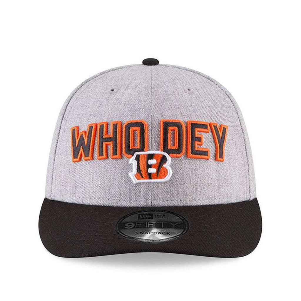finest selection f934a 81504 ... inexpensive cincinnati bengals new era nfl 2018 nfl draft pre curved 9fifty  snapback hat heather ff83b