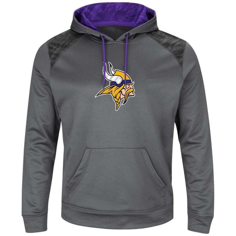 Minnesota Vikings Majestic NFL Armor Performance Hoodie Jumper - Grey