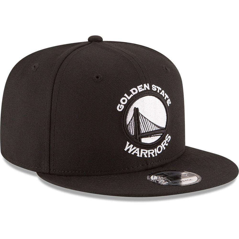 Golden State Warriors New Era NBA Black & White 9FIFTY Snapback Hat