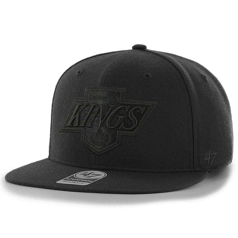 Los Angeles Kings '47 NHL Black On Black Sure Shot Snapback Hat