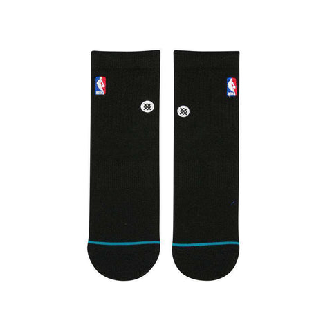 Stance NBA Logoman Casual Quarter Socks - Black