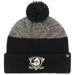 Mighty Ducks '47 NHL Backdrop Cuff Knit Beanie - Black