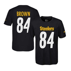 Youths Antonio Brown Pittsburgh Steelers Nike NFL Player T-Shirt - Black