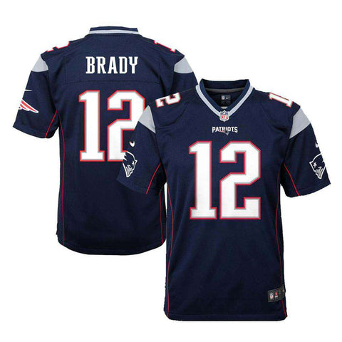 Youths Tom Brady New England Patriots Nike NFL Game Jersey - Navy