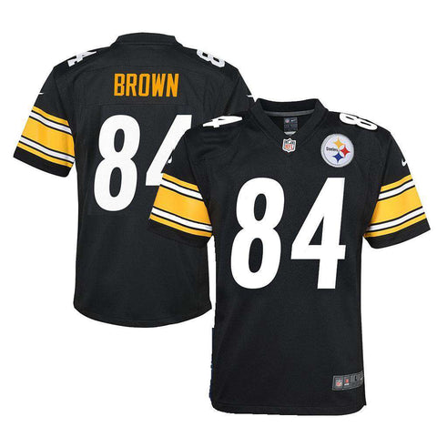 Youths Antonio Brown Pittsburgh Steelers Nike NFL Game Jersey - Black