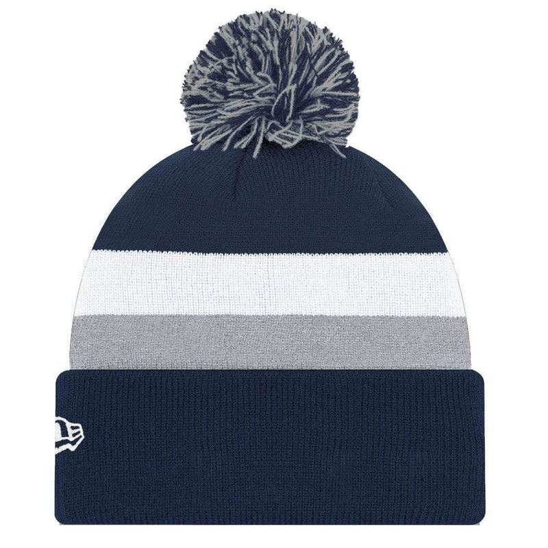 New York Yankees New Era MLB Team Stripe Knit Beanie - Navy