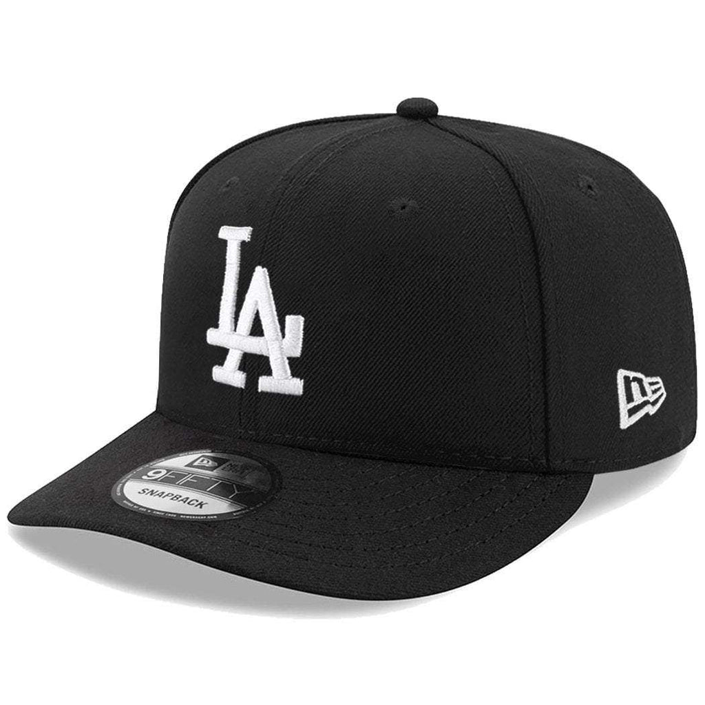 best loved b15f2 c831e Los Angeles Dodgers New Era MLB Black   White Pre-Curved 9FIFTY Snapback Hat