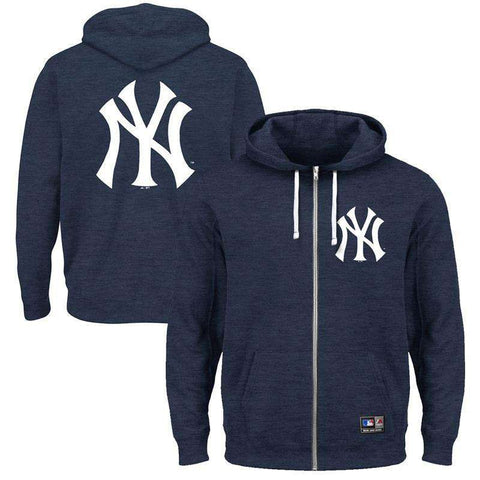 New York Yankees Majestic MLB Marle Zip Hoodie Jumper - Navy