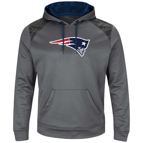 New England Patriots Majestic NFL Armor Performance Hoodie Jumper - Grey