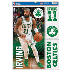 "Kyrie Irving Boston Celtics Wincraft NBA Multi-Use 11"" x 17"" Decal Set"