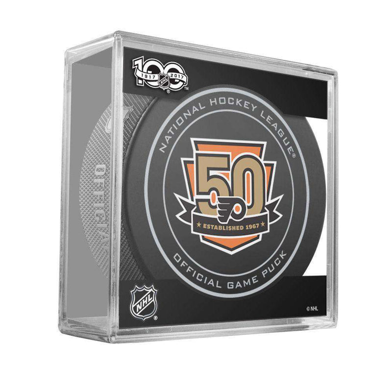 Philadelphia Flyers Sher-Wood NHL Anniversary Puck w/Case