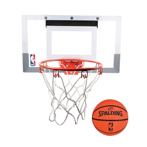 Spalding NBA Slam Jam Mini Over The Door Basketball Backboard Set