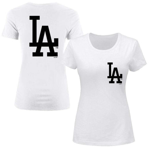Women's Los Angeles Dodgers Majestic MLB Remica T-Shirt - White
