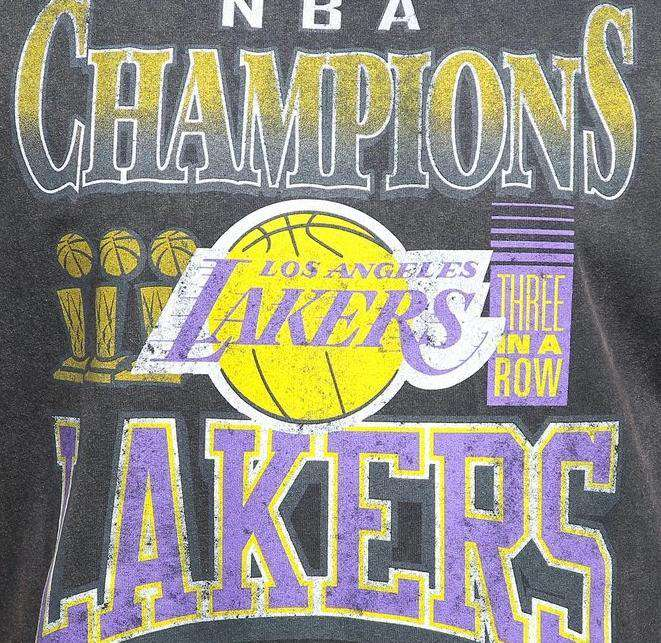 Los Angeles Lakers Mitchell & Ness NBA Vintage Championship Rings Muscle T-Shirt - Black