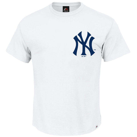 New York Yankees Majestic MLB Macy Logo T-Shirt - White