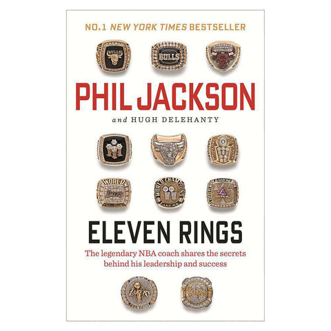 Eleven Rings by Phil Jackson NBA Paperback Book