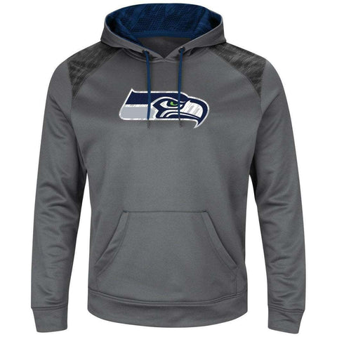 Seattle Seahawks Majestic NFL Armor Performance Hoodie Jumper - Grey