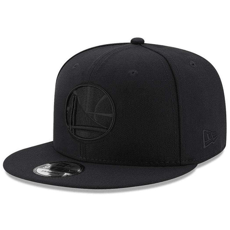 Golden State Warriors New Era NBA Black On Black 9FIFTY Snapback Hat
