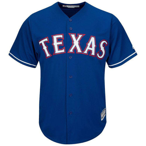 Texas Rangers Majestic MLB AC Cool Base Replica Jersey - Royal