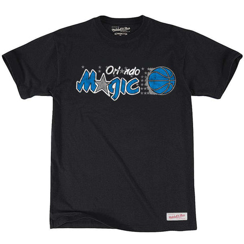 Orlando Magic Mitchell & Ness NBA Distressed HWC T-Shirt - Black
