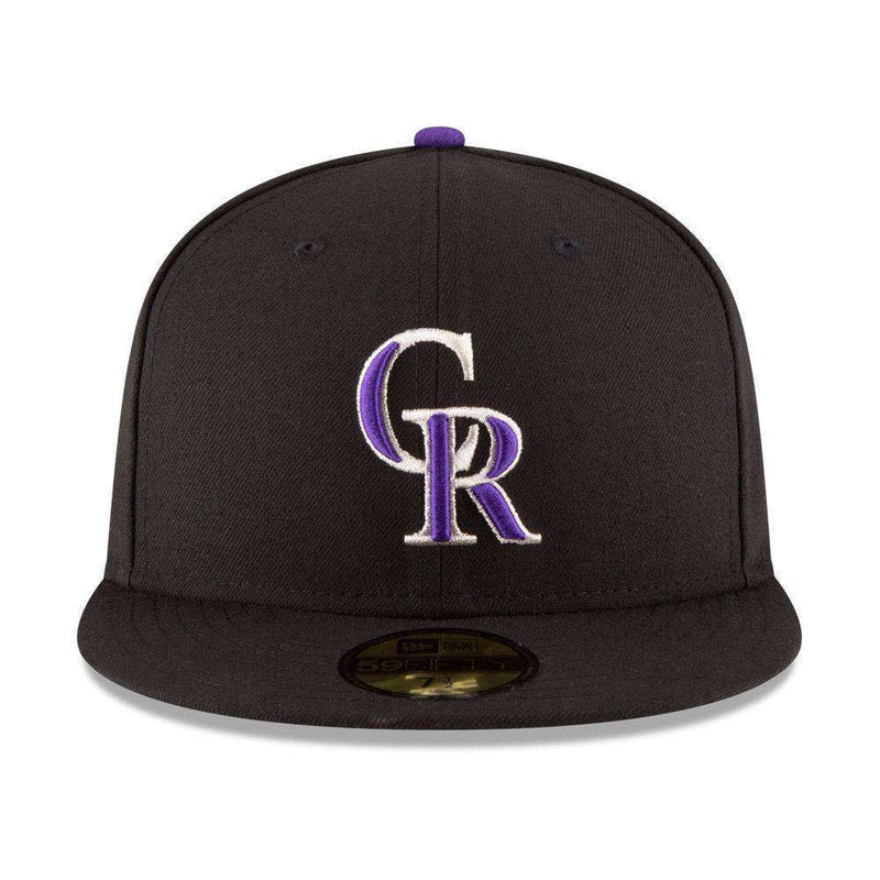 Colorado Rockies New Era MLB AC On-Field 59FIFTY Fitted Hat - Black