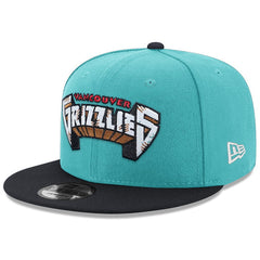 Vancouver Grizzlies New Era NBA Hardwood Classics Wordmark 9FIFTY Snapback Hat - Teal
