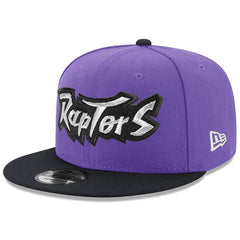 Toronto Raptors New Era NBA Hardwood Classics Wordmark 9FIFTY Snapback Hat - Purple