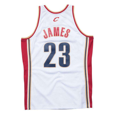 Lebron James Cleveland Cavaliers Mitchell & Ness NBA Swingman Jersey - White