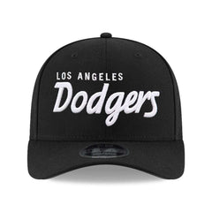 Los Angeles Dodgers New Era MLB Black & White Script Pre-Curved OF 9FIFTY Snapback Hat