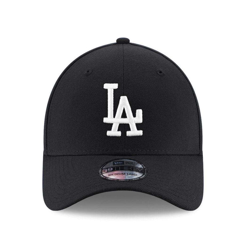 Los Angeles Dodgers New Era MLB Black & White 39THIRTY Curve Hat