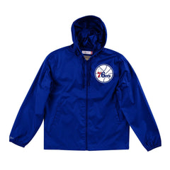 Philadelphia 76ers Mitchell & Ness NBA Team Captain Windbreaker Jacket - Royal