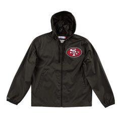 San Francisco 49ers Mitchell & Ness NFL Team Captain Windbreaker Jacket - Black