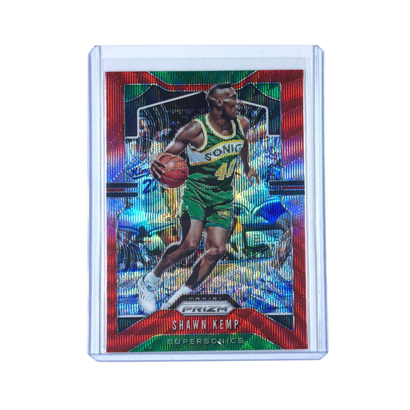 Shawn Kemp Seattle Supersonics 19-20 Panini Prizm NBA Red Wave 14 Card