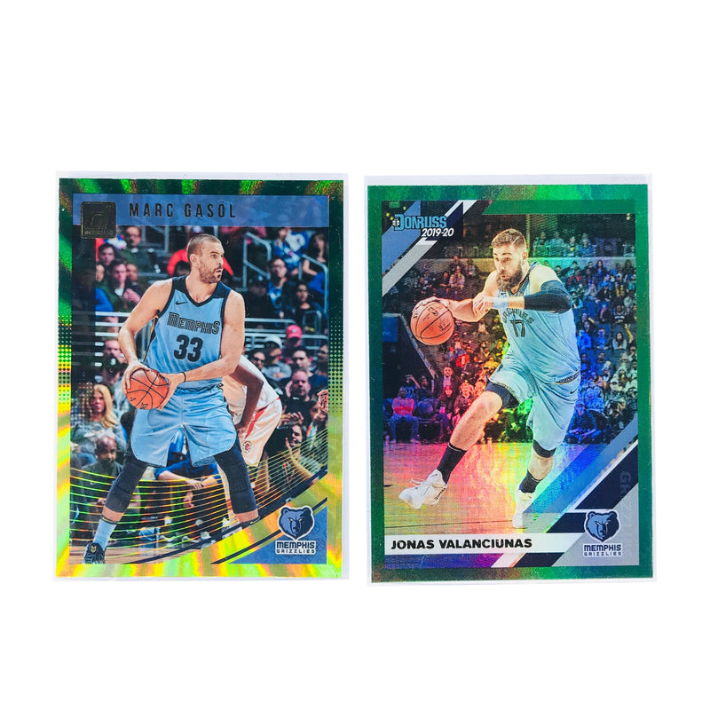 Memphis Grizzlies Panini NBA 2 Green Parallel Card Set