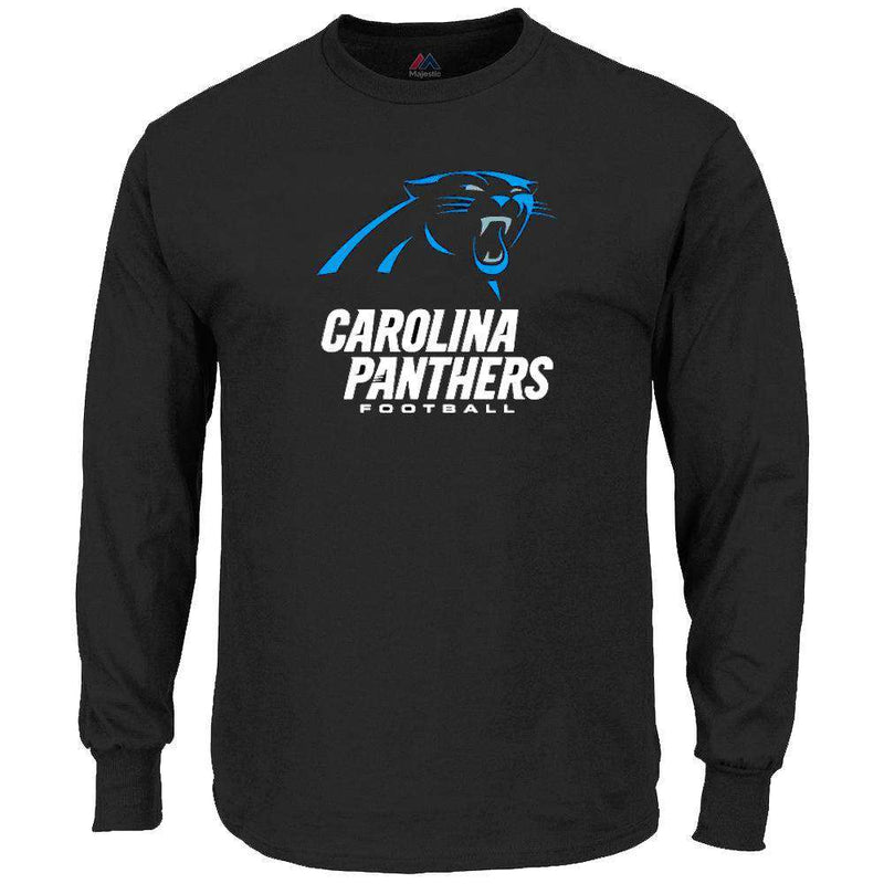 Carolina Panthers Majestic NFL Critical Victory Long Sleeve T-Shirt - Black